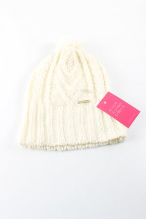 Rinascimento Knitted Hat cream cable stitch casual look