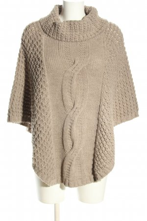 Rinascimento Knitted Poncho natural white cable stitch casual look