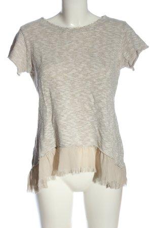 Rinascimento Camicia maglia crema-bianco puntinato stile casual