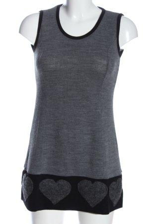 Rinascimento Knitted Vest light grey-black casual look
