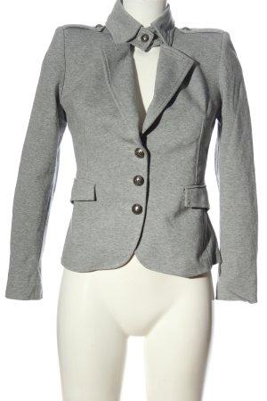 Rinascimento Blazer sweat grigio chiaro puntinato elegante