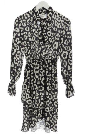 Rinascimento Vokuhila-Kleid schwarz-weiß Allover-Druck Elegant