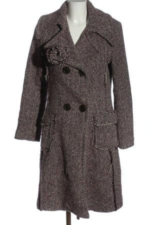Rinascimento Cappotto in lana lilla-bianco sporco modello web