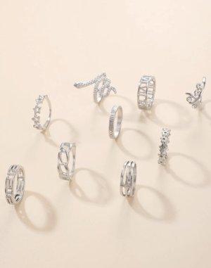 SheIn Srebrny pierścionek srebrny
