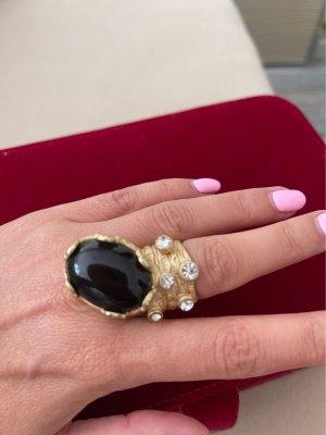 Gouden ring zwart-goud