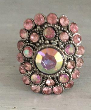 Made in Italy Pierścionek z ozdobnym kamieniem różowy-różowy