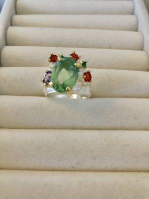 Anillo de plata multicolor