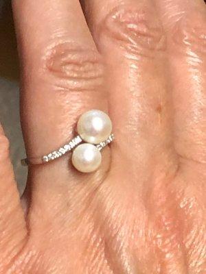 Juwelier Bague en or blanc-argenté