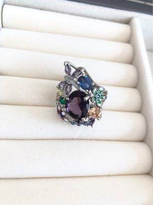 Bague en argent argenté-violet