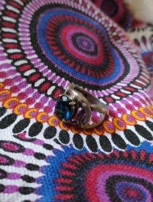 Bague incrustée de pierres multicolore