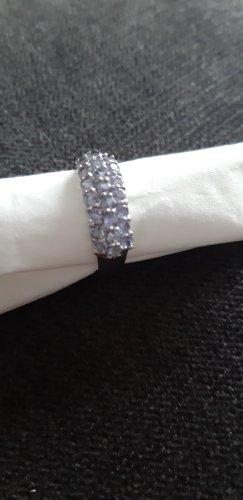 Zilveren ring zilver-mauve