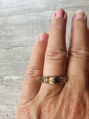 Anello d'argento bronzo-marrone-grigio