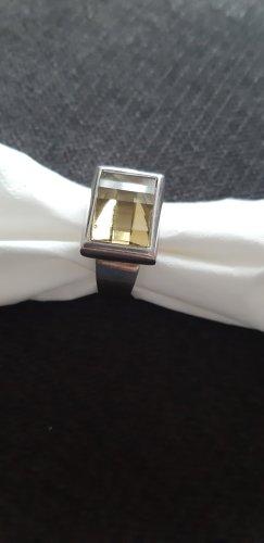 Zilveren ring zilver-lichtgeel