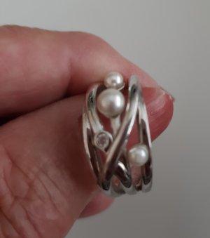 Anillo de plata blanco-color plata