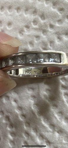 Ring 925 Silber mit zirkonia Steine gr 18/57 /2 fach gestempelt