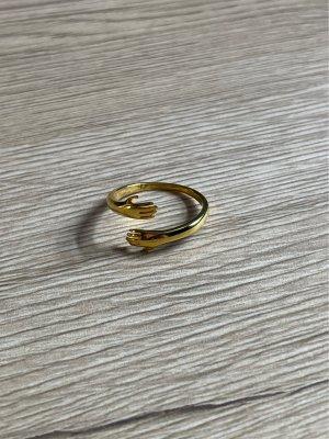 925er Silber Bague en or doré