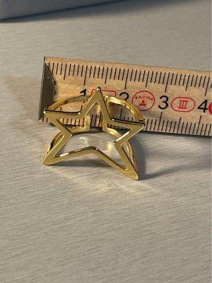 Ring 925 Silber vergoldet Stern
