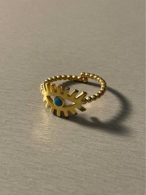 Ring 925 Sterling Silber vergoldet Auge #schmuck