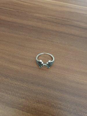 Silver Ring black-silver-colored