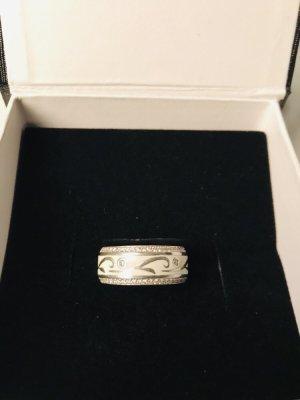 Anello d'argento argento-bianco