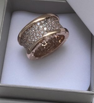 Statement Ring rose-gold-coloured