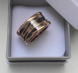Statement Ring black-rose-gold-coloured