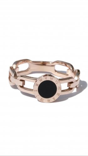 Ring aus Edelstahl Roségold Farbe Neu mit Verpackung