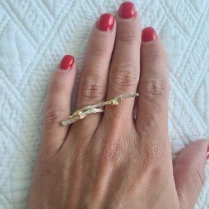 Ring aus Silber mit vergoldenen Details