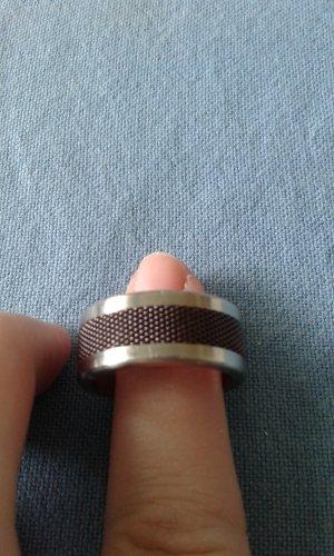 Ring Bering Gr.11 (63) silber, braun