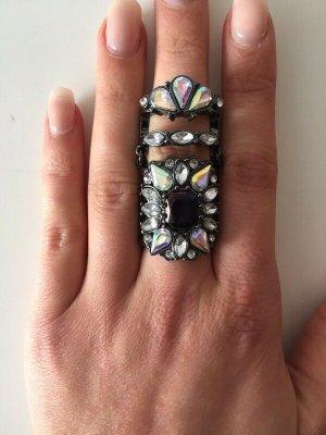 Anello di fidanzamento antracite-bianco Metallo
