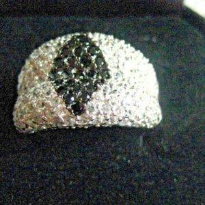 Ring Black Glamour Gr. 17 von Ricarda M. 925er Silber.