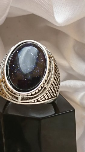 Anello di fidanzamento nero-argento