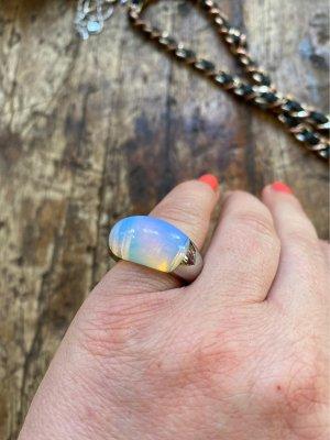 Calvin Klein Statement ring zilver-azuur