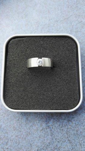 Ring Damenring mit Zirkonia Stein Gr. 17,  925 Silber NEU
