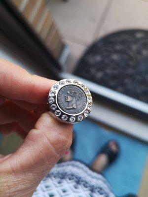dryberg/kern Zdobiony pierścionek srebrny-brąz