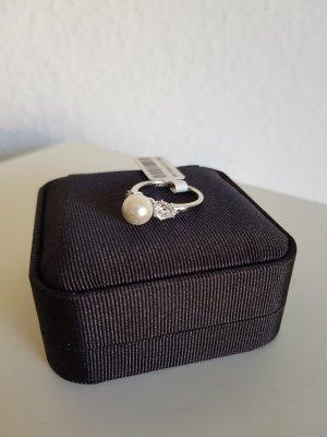 Burkhardt Zilveren ring wit-zilver