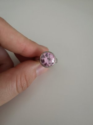 Anello d'argento argento-rosa