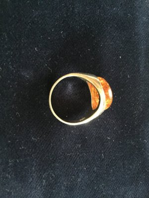 Silver Ring silver-colored-cognac-coloured