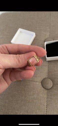 Ring Gold mit rosa Stein