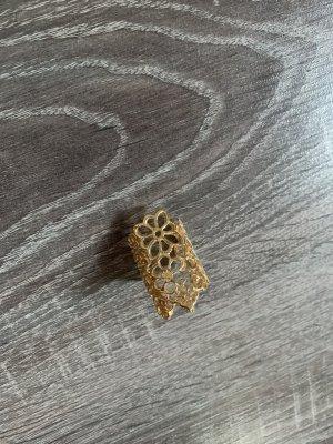 Ring Gold Statement Blumen Muster neu verstellbar