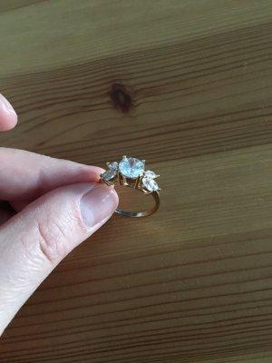 Ring gold, weiß neu 18mm