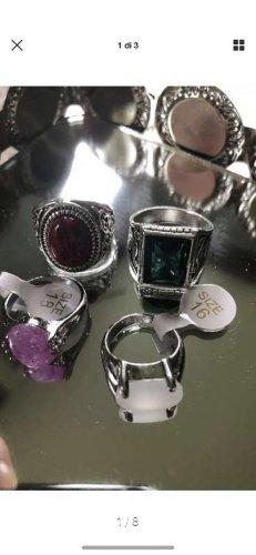 Anello di fidanzamento argento-nero