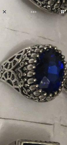 Ring gr 19/59 neu mit blaue stein