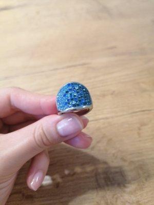 Luna Anillo de cuentas azul