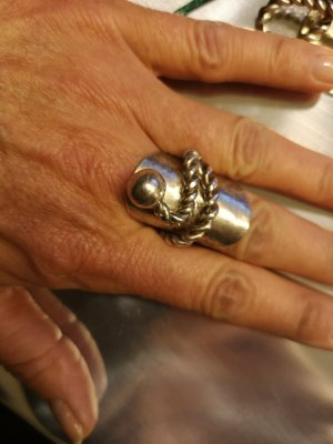 Ring hand made Gr. 19 mm