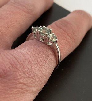 Ring Harry Ivens Gr. 55 (18) 925 Silber 3 grüne Saphire neuwertig