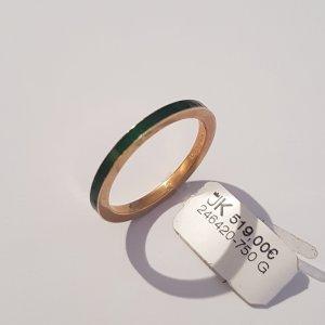 Ring in 750 Gelbgold Rot Emailliert Größe 56. Ungetragen. UVP 519€. Handgefertigt in Deutschland