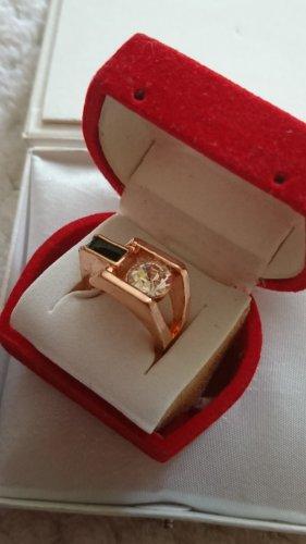 Ring in Rosegold vergoldet Gr.17