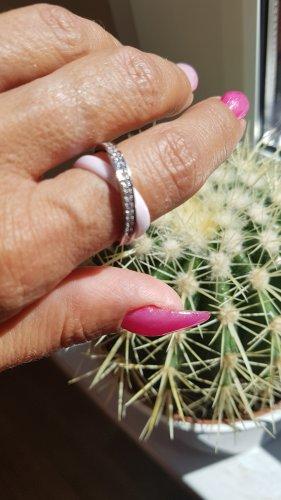 Blueberry Srebrny pierścionek srebrny-jasny różowy