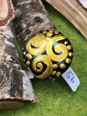 Handmade Anello di fidanzamento oro-nero Legno